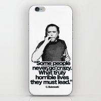bukowski iPhone & iPod Skins featuring Bukowski by Alessandro Paradossi