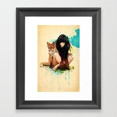 Fox Love Framed Art Print