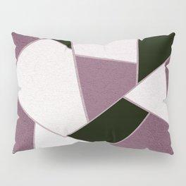 Mauve Black Geometric Glam #1 #geo #decor #art #society6 Pillow Sham