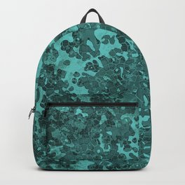 Turquoise Blue Hybrid Camo Pattern Backpack