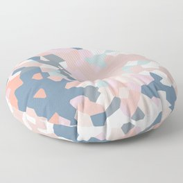 love the world to pieces pinks and grays Floor Pillow