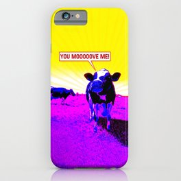 Psychedelic Cows iPhone Case