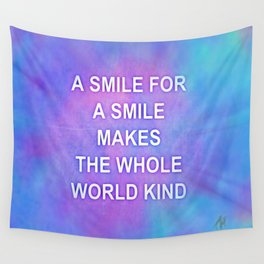 A smile for a smile... Wall Tapestry