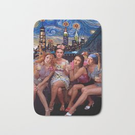Art and the City. The Birth of Venus, Frida Kahlo, Mona Lisa, Girl with a Pearl Earring Bath Mat