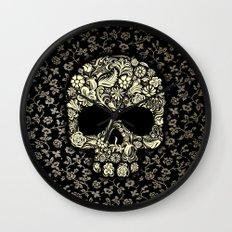 Sugar Skull flower pattern iPhone 4 4s 5 5s 5c, ipod, ipad, pillow case and tshirt Wall Clock