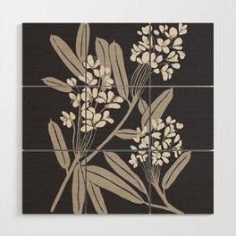 Boho Botanica Black Wood Wall Art