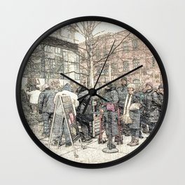 Christmas Trees in the City DPGPA151025c Wall Clock