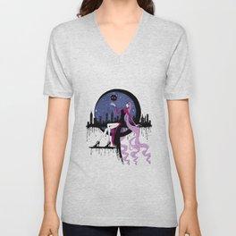 Black Lady (Chibiusa) night moon city Unisex V-Neck