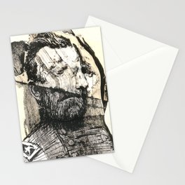 dis comp 6 ( 4 Civil War Generals) Stationery Cards