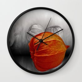 physalis - colorkey Wall Clock
