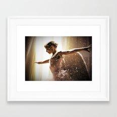 Angel Ballerina Framed Art Print