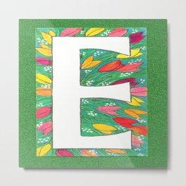 E is for Eloise, Ellen, Elly, Elizabeth-- and Even Edward Metal Print