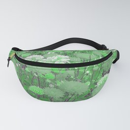 bright green flowersreatment Fanny Pack