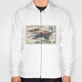 Flying eagle italian post stamps collage Hoody