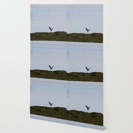 Osprey In Flight on the Ocean Wallpaper