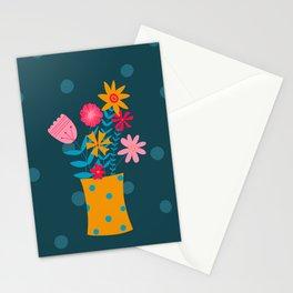 Spotty Flowers Stationery Cards