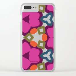 Flower-Caleidoscope Clear iPhone Case