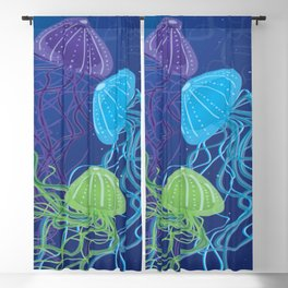 Ethereal Jellies Blackout Curtain