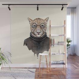 J is for a Jaguar Just Hangin' Out | Watercolor Jaguar Wall Mural