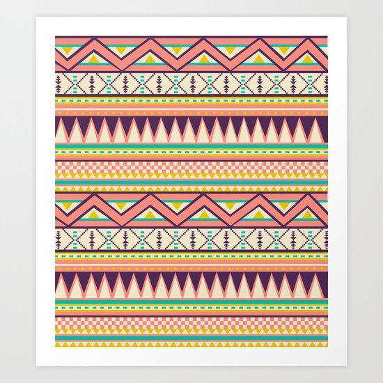 Ethnic love Art Print