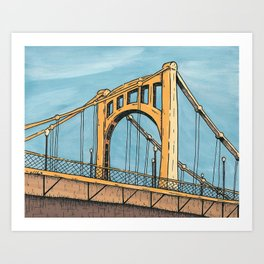 Roberto Clemente Bridge - Pittsburgh Art Print