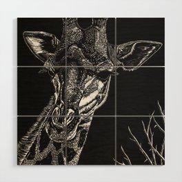 Giraffe Wood Wall Art