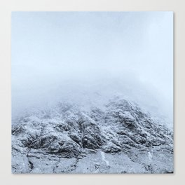 Letting go -  cold comfort in Glencoe Canvas Print