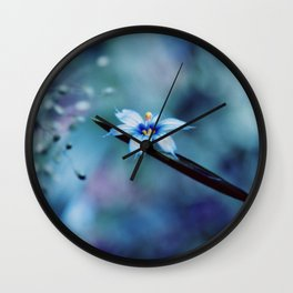 Blue on blue Flower Photography, Symphony in Blue Wall Clock