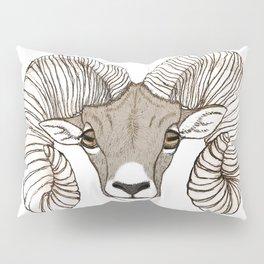 Ram Head in Color Pillow Sham