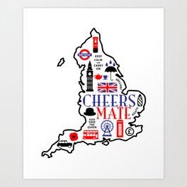 England Love Art Print