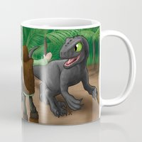 how to train your dragon Mugs featuring How to Train Your Dinosaur by Jeremy Kohrs