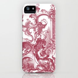Baroque Toile de Jouy Man and Dog iPhone Case