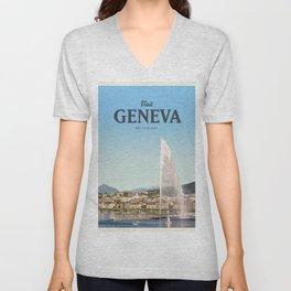 Visit Geneva Unisex V-Neck