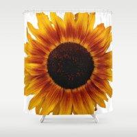 sunflower Shower Curtains featuring Sunflower5 by Regan's World