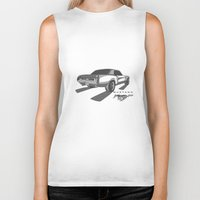 mustang Biker Tanks featuring Mustang by Mister Abigail