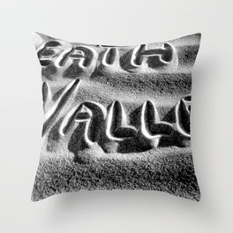 Death Valley - Black and White Throw Pillow