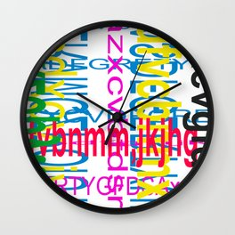 Meeting between ocaissonally letters Wall Clock
