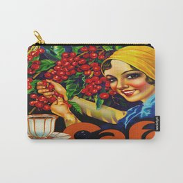Vintage Brazil Coffee Ad Carry-All Pouch