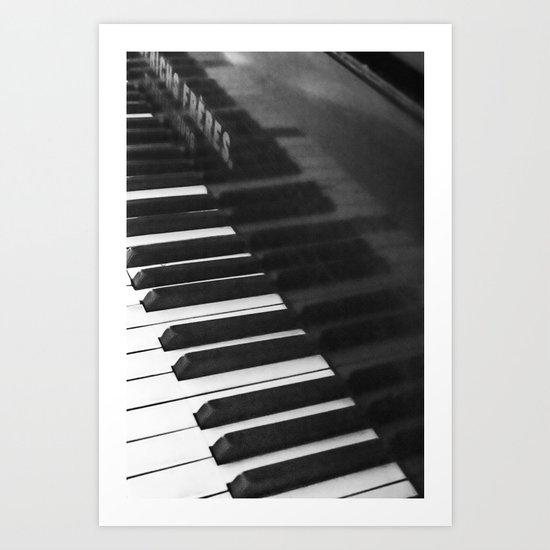 Old grand piano Art Print