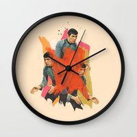 spock Wall Clocks featuring Spock by Iotara