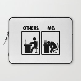 Workaholic Stickman Office Humor Laptop Sleeve