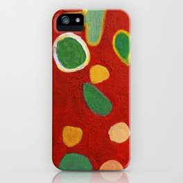 Scattered Things over Red iPhone Case