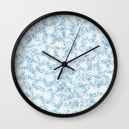 Blue Xray leaves Wall Clock