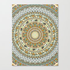 Pug Yoga Medallion Canvas Print