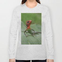 Gecko iguana Red Head Long Sleeve T-shirt