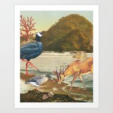 The arrival Art Print