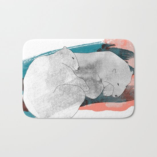 polar bears Bath Mat