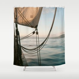Sailing I Sailboat I Haiti I Caribbean Sea I ocean I Travel photography I art print I pirate Shower Curtain
