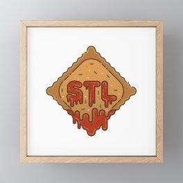 STL / Toasted Ravioli Framed Mini Art Print