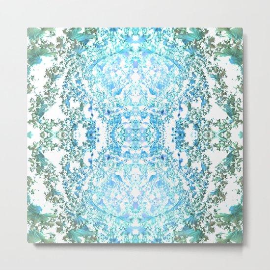 Pattern 20 Shades of blue Metal Print